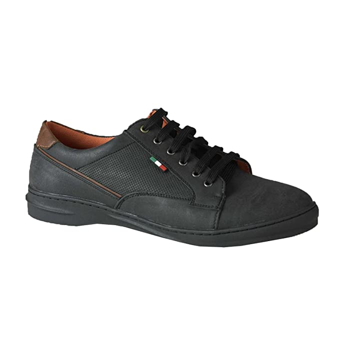 Mens Duke D555 Big Tall King Size PU Leather Lace Up Shoes Ankle Padded Textured Footwear