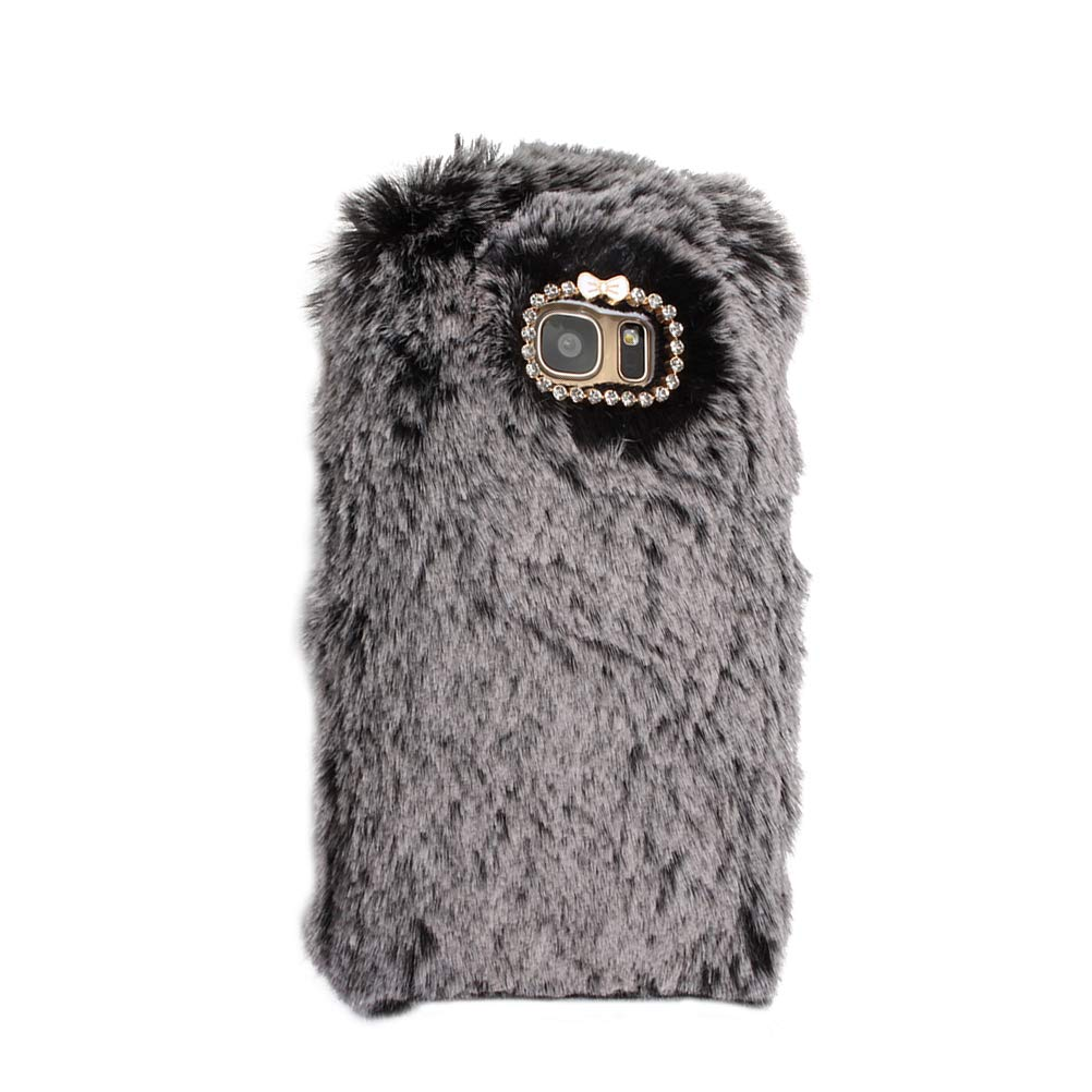 official photos a7fd7 2fdf6 Amazon.com: Fur case for Samsung Galaxy S7 Edge,Fashion Soft ...