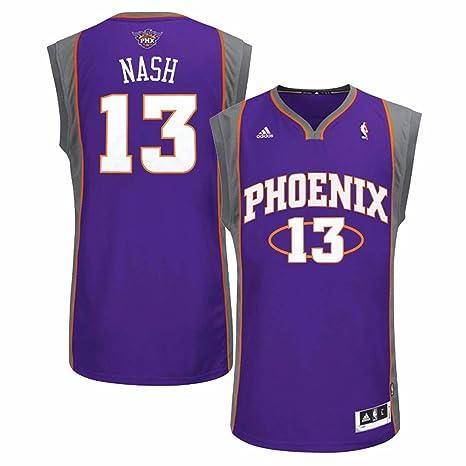 Adidas Steve Nash Phoenix Suns NBA Hombres Camiseta de Jersey Morado, L, Púrpura