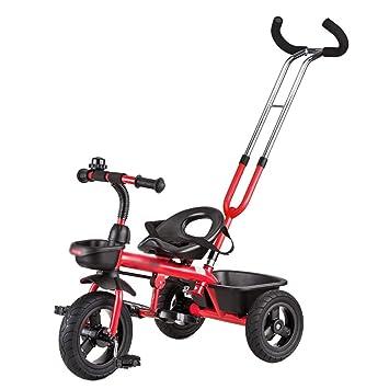 Triciclos Trike para niños Triciclo Bicicleta Carrito para bebés Bicicleta para niños 3 ruedas 1-3 años Niños (Color : Rojo) : Amazon.es: Juguetes y juegos