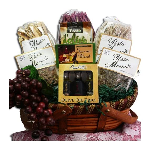 Mama Mia! Grand Italian Pasta Feast Gourmet Food Gift Basket 1 Inspired by the delicious flavors of artisan handmade pasta, the Mama Mia! Italian Feast provides some of our favorite varieties of artisan handmade pasta