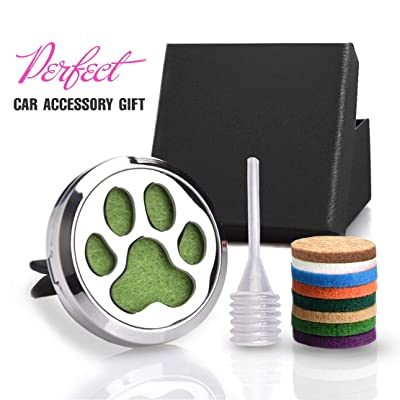 "CHIDRA Dog Paws Car Essential Oil Diffuser,1.2"" Aromatherapy Essential Oil Vent Clip,Fragrance Locket-Waterless & Wireless: Automotive"