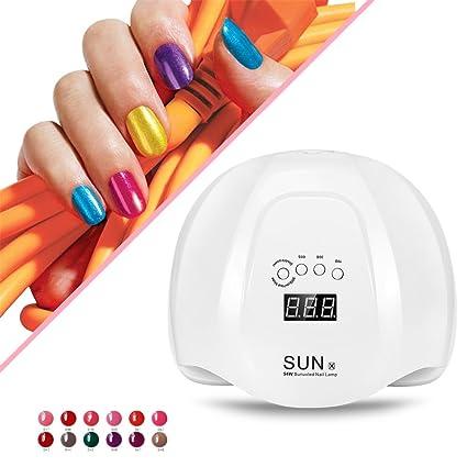 Secador de uñas 54W, uña UV y uñas de uña Gel polaco curado lámpara LED