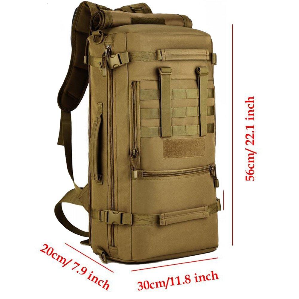 Selighting Mochilas de Asalto Hombre 50L Mochila Táctica Militar Impermeable con Múltiples Bolsillos para Senderismo Acampada,Montañismo,Caza,Airsoft ...