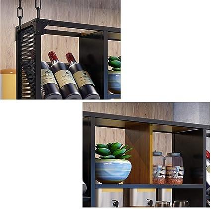 WJY Home Bar copa de vino de gabinete en rack estante del vino ...