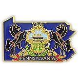 PinMart's State Shape of Pennsylvania and Pennsylvania Flag Lapel Pin
