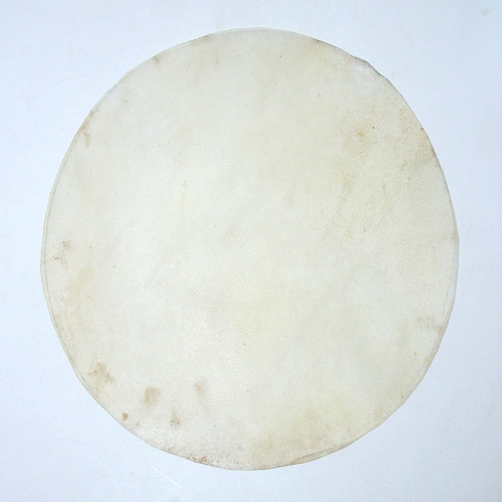 Doumbek goat skin head, goatskin 8 in. round from Pakistan
