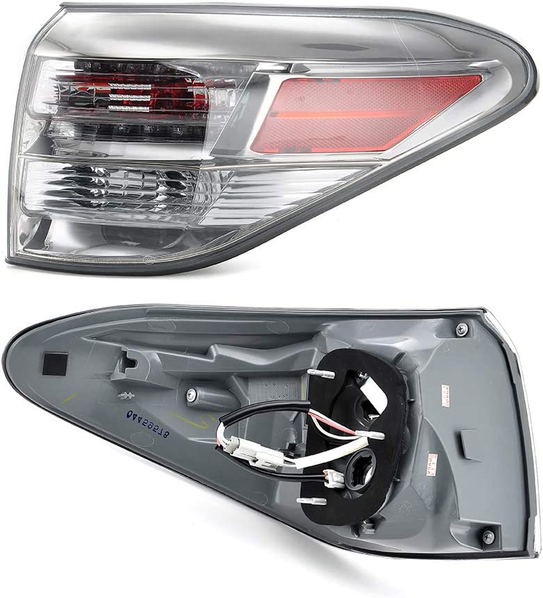 MotorFansClub Tail Light Outer Taillamp Fit for Lexus RX350 2010-2012 Right Passenger Side