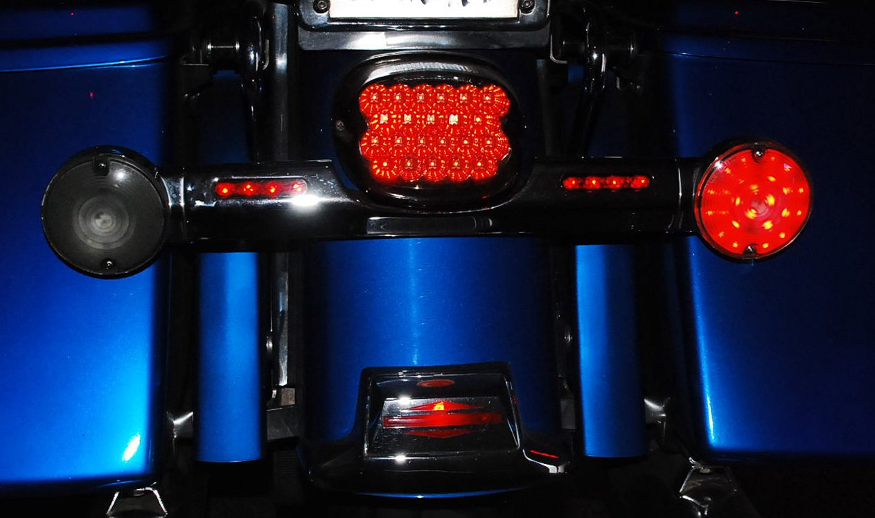 Oz Usa Rear Red Led Bulb 1156 Harley Touring Turn Dual Circuit Style Small Silver Bullets W Amber Bulbs 1610 Signal Road King Glide Electra Ultra Automotive