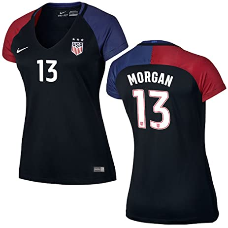 a84674b94 Amazon.com   Alex Morgan US Soccer Nike Women s Away Replica Stadium ...