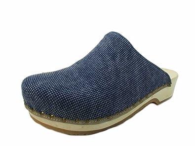 Berkemann Velours-Toeffler Unisex-Erwachsene Clogs, Blau (Blau), 38 2/3 EU