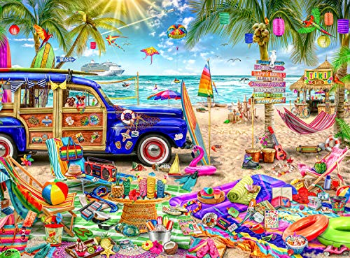 Buffalo Games - Aimee Stewart - Beach Vacation - 1000 Piece Jigsaw Puzzle]()
