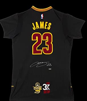 sale retailer c2049 32c30 LeBron James Autographed Authentic Cleveland Cavaliers Black ...