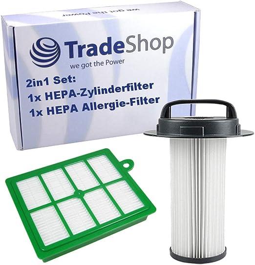 2in1 Set HEPA H12 Zylinderfilter + Allergie Filter ersetzt 432200517520 für Philips Marathon FC922602 FC923201 FC923601 FC923602 FC923603