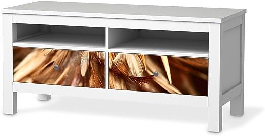 Muebles de Tattoo para IKEA hemnes TV de Banco 2 cajones | Deko Sticker Decorativo Skins Muebles de Pantalla | Habitaciones umgestalten Configuración Ideas, Diseño de Cuerda de Diseño Tracks: Amazon.es: Hogar