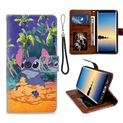 Wallet Case Fit Samsung Galaxy S7 Edge 55 Inch Disney Lilo Y Stitch Wallpaper