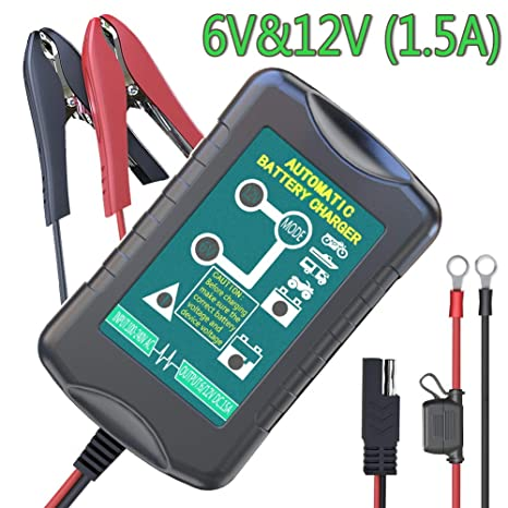 d3d55a23a02 LST Trickle Battery Charger Automatic Maintainer 6V 12V Smart Float Charger  for Automotive Car Motorcycle Lawn