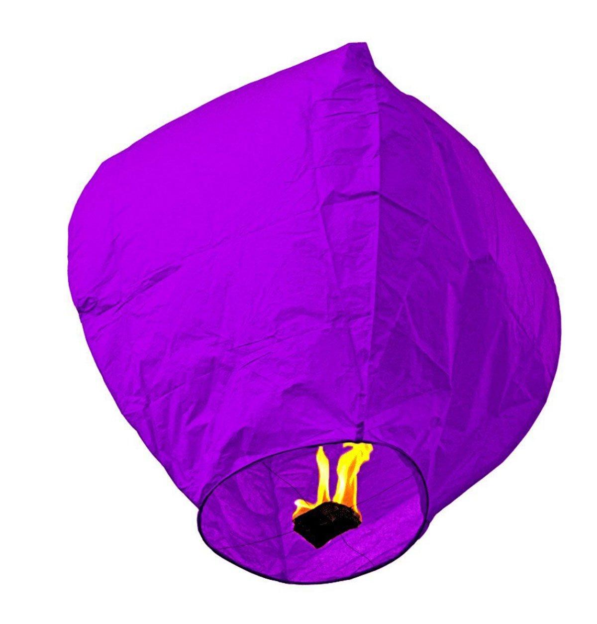 Rainbow Love 10 Pack Chinese Sky Lanterns Wish Balloon Wishing Lamp Wishing Light for Wedding Birthday Christmas Party (Purple)