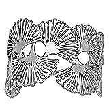 Ginkgo Cascading LeafCuff Bracelet (Silver Plated) by Mercedes Shaffer