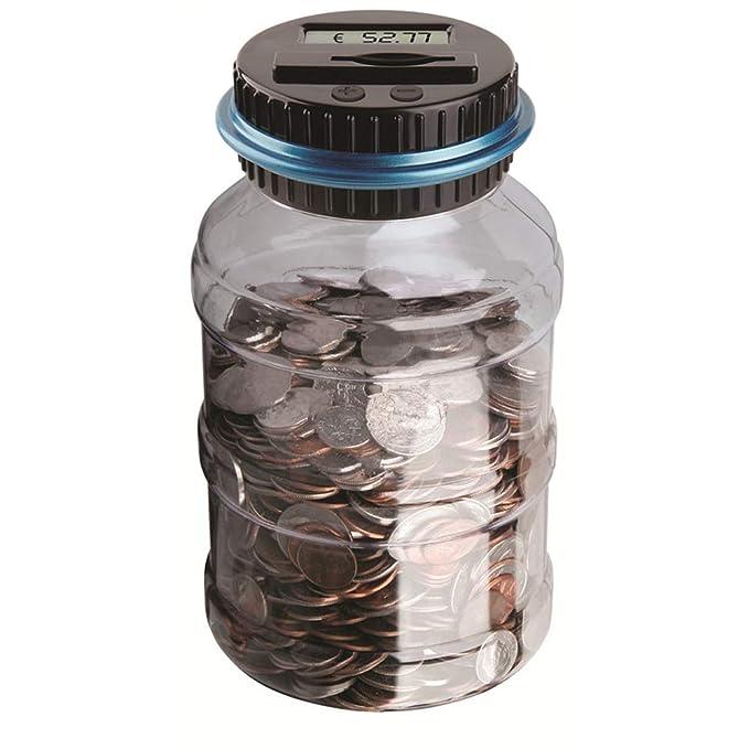 BESTZY Digitale Piggy Bank Euro Counter,Münze Zählen Geld Sparen Box Münze Zählwerk Münze Bank mit LCD Dispaly für Kinder und