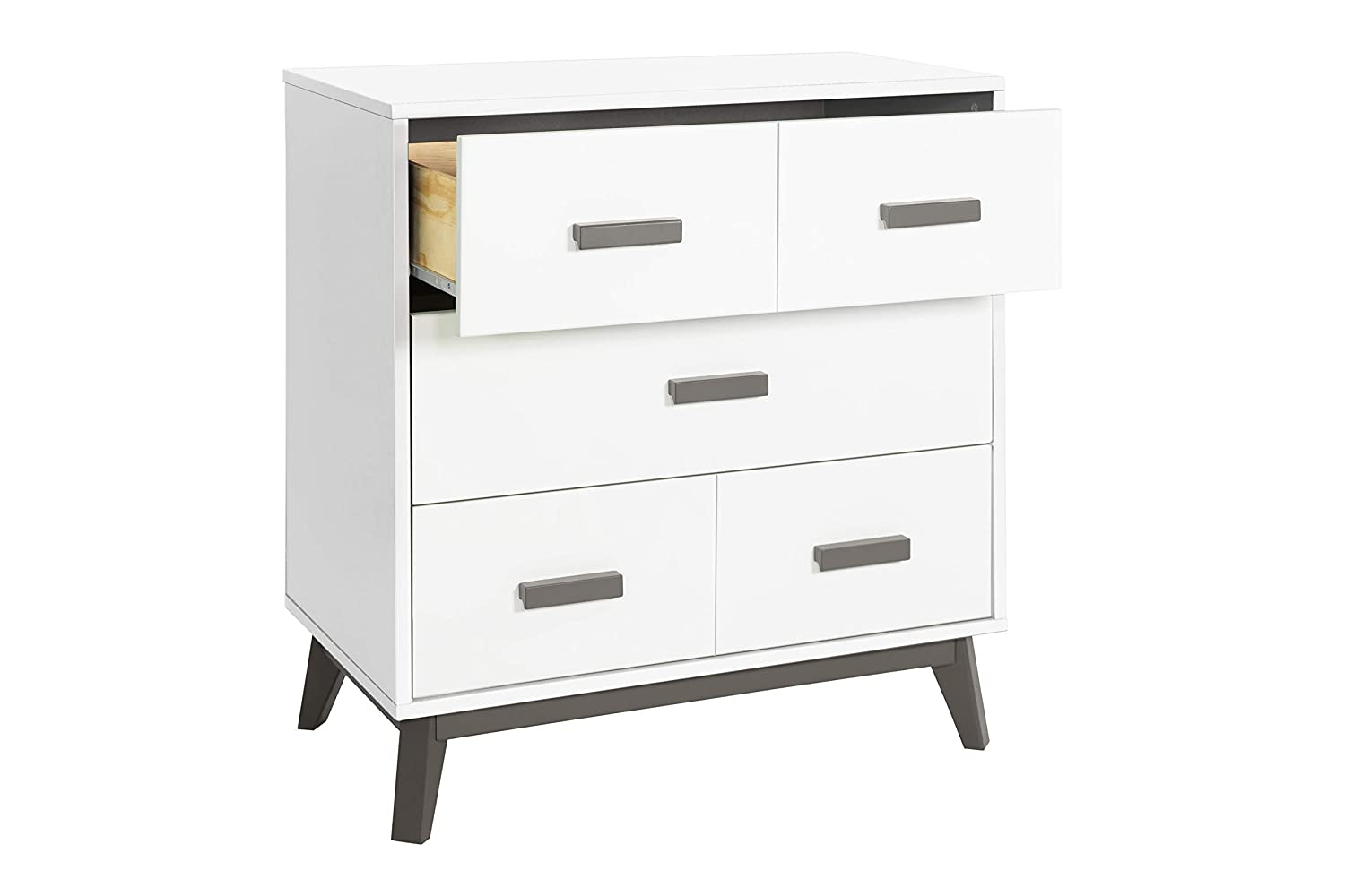 Babyletto Scoot 3 Drawer Changer Dresser with Removable Changing Tray Slate//White