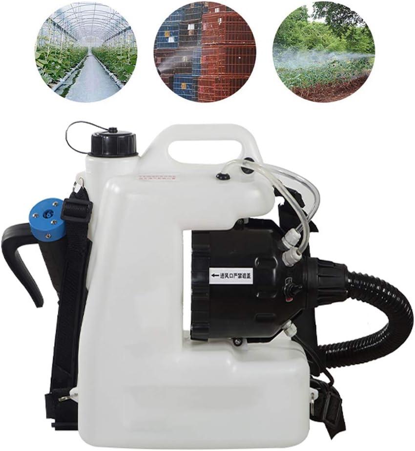 12L portátil ULV eléctrica pulverizador, Medio Ambiente y Agricultura Desinfección del atomizador de la máquina, Niebla Tamaño de la Gota de 5 a 50 micras, Rociar Distancia 8 a 12 m, Blanca