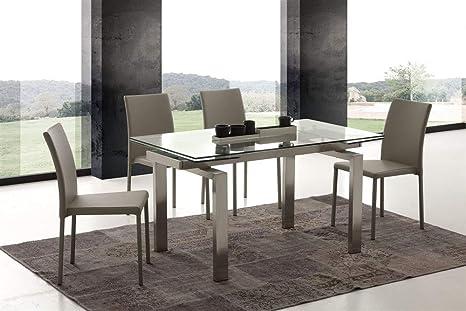 Emporio3 Tavolo allungabile in vetro Rimo - SG1565  Amazon.it  Casa ... 5ab7b46830f1
