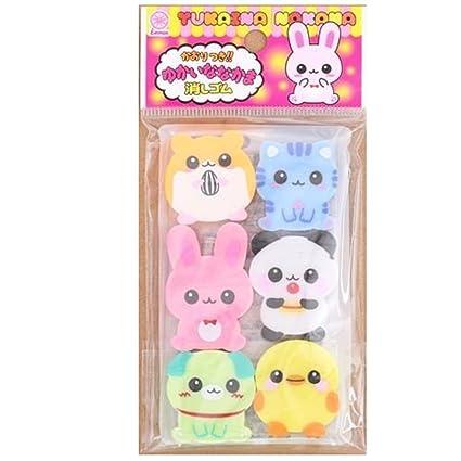 6 Adorables Gommes Kawaii En Forme De Bébés Animaux
