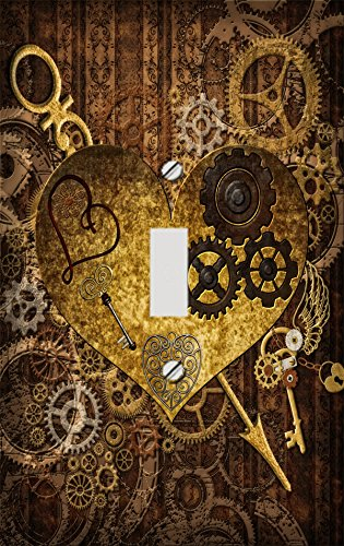 Arrow Switchplate - Steampunk Heart Decorative Switchplate Cover
