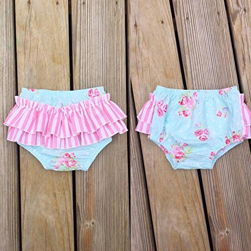 Floral baby girls ruffle diaper cover, sizes newborn-3y