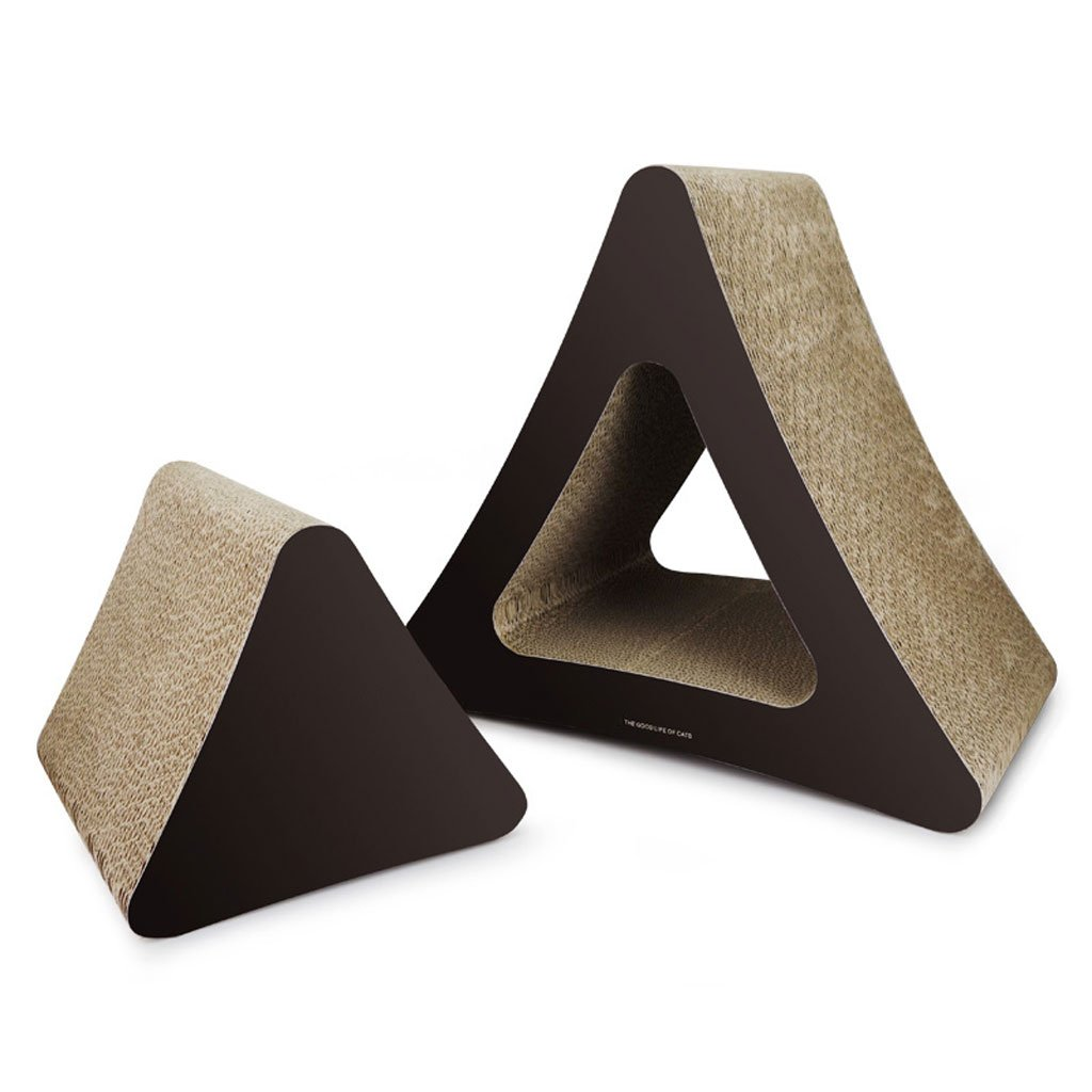 BROWN PLDDY Triangle, greenical Corrugated Cardboard Cat Grab, Cat Grinding Claw, Cat Toys, Pet Toys (color   BROWN)