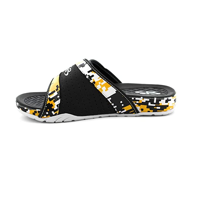 62c519a72fe9 Amazon.com  Boombah Men s Tyrant Digital Camo Slide Sandals - 11 Color  Options - Multiple Sizes  Sports   Outdoors