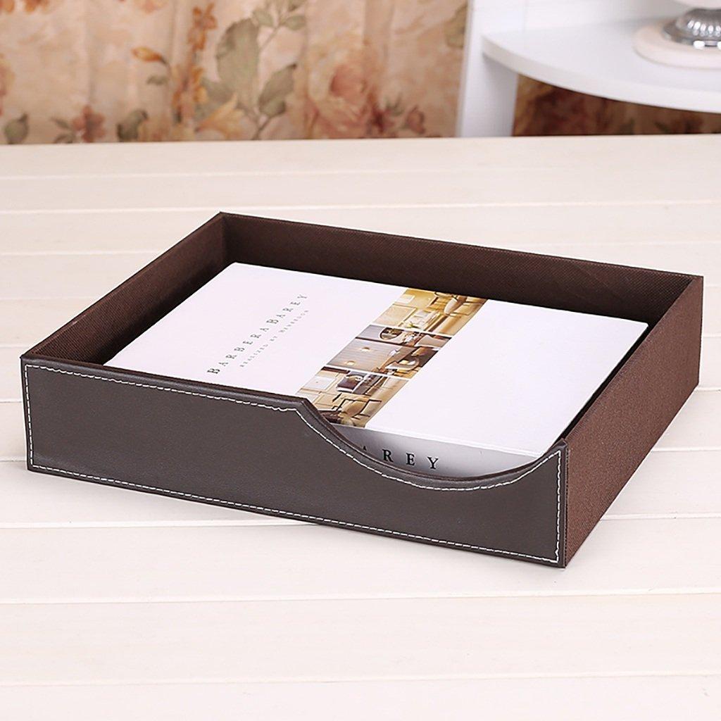 Wanli666 Cassettiera in Pelle Cassettiera per scrivania Cassettiera per Ufficio Cassetto A4 per Ufficio//Colore Marrone Dimensioni: 326 * 265 * 237mm