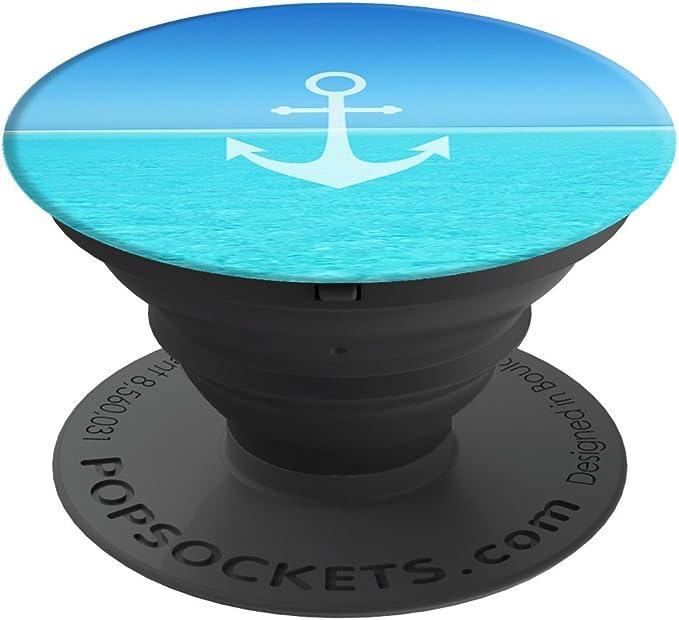 PopSockets PopGrip - Soporte y Agarre [No Intercambiable] para Teléfonos Móviles y Tabletas - Anchor Ocean: Amazon.es: Electrónica