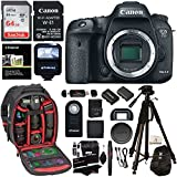 Canon EOS 7D Mark II Digital SLR Camera Body, Sandisk 64GB Card, Wi-Fi Adapter, Ritz Gear Camera Backpack, Polaroid Flash, and Accessory Bundle