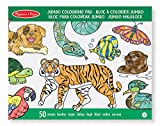 Melissa & Doug Jumbo Coloring Pad (30 x 36 cm) - Animals, 50 Pictures