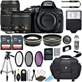 Nikon D5300 24.2 MP DSLR Camera (Black) w/AF-P DX NIKKOR 18-55mm f/3.5-5.6G VR Lens & Tamron 70-300mm f/4-5.6 Di LD Lens Bundle includes 64GB Memory + Filters + Deluxe Bag + Accessories