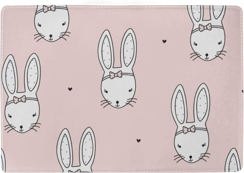 Custom Passport Case Cute Bunny Rabbit With Carrot Heart Stylish Pu Leather Travel Accessories Passport Cover Girl For Women Men