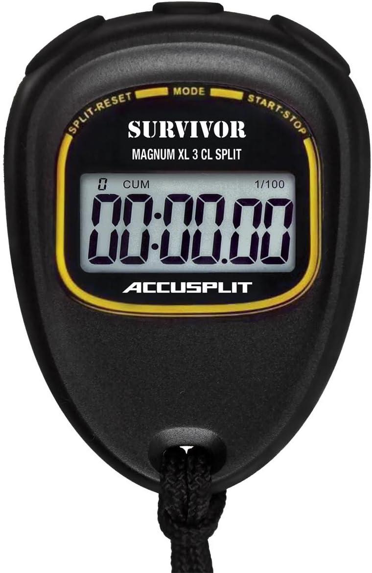 ACCUSPLIT Survivor  S3CL CUMULATIVE-LAP SPLIT Stopwatch with Magnum Display