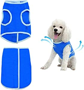 The Fellie Dog Cooling Vest Swamp Cooler Jacket Pet Cooling Coat Cooler Vest Summer Jacket for Small Medium Large Dogs
