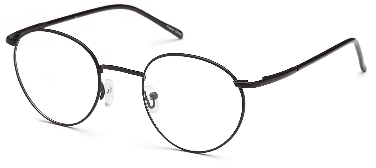 0a97f959aa1 Amazon.com  Mens Oval Glasses Frames Black Prescription Eyeglasses  47-20-140  Clothing
