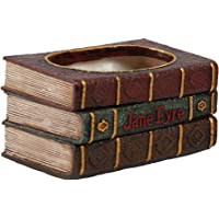 MagiDeal Creative Pot Container Of Succulent Plants In Resin Shaped Old Book