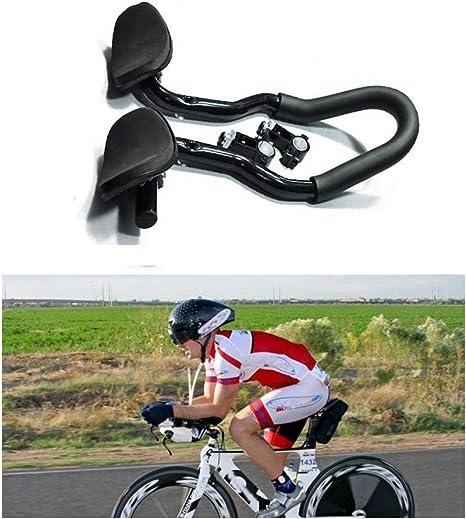 TT Guidon de v/élo Aero Bars Triathlon Cyclisme Repose guidon pour v/élo de route
