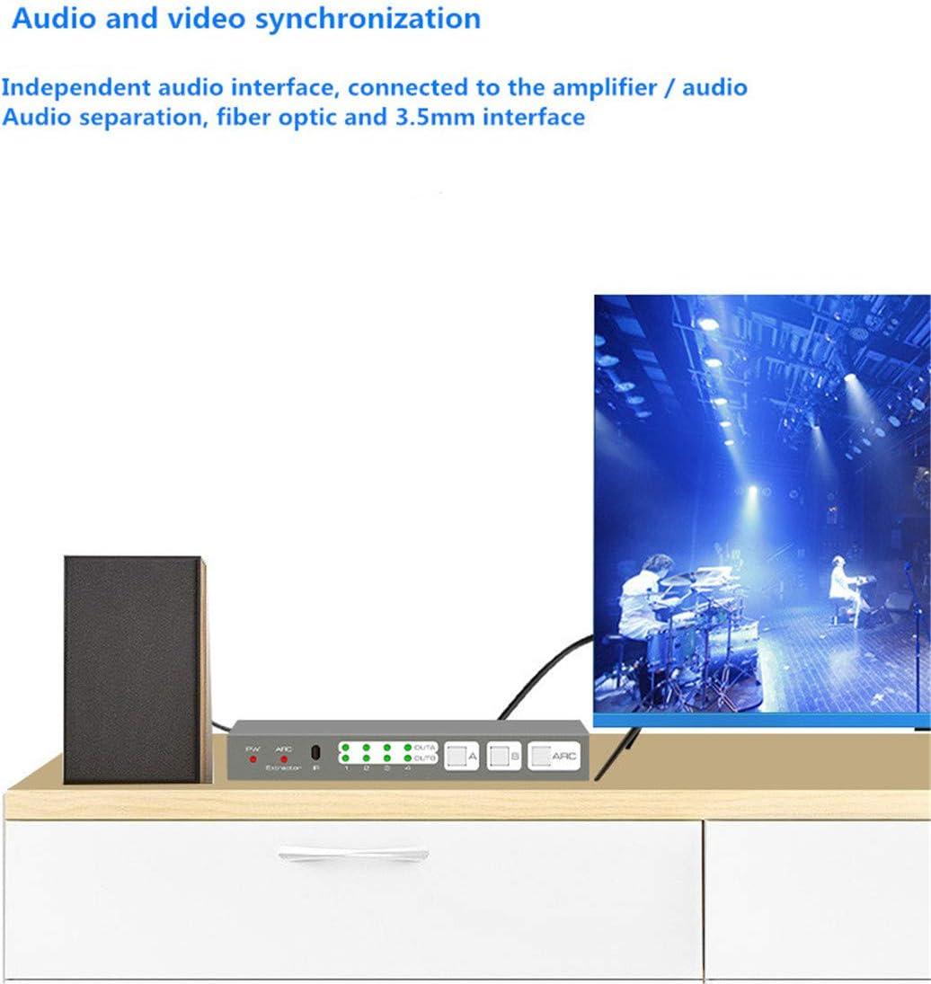 Conmutador de Matriz HDMI 2.0, versión 2.0 Matriz de HDMI 4 en 2 Salidas El conmutador de Matriz HDMI4X2 de Cuatro en Dos Salidas admite la separación de Audio Control ARC/EDID: Amazon.es: Electrónica