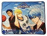 Great Eastern Entertainment Kuroko's Basketball Kuroko, Kise & Aomine Sublimated Throw Blanket