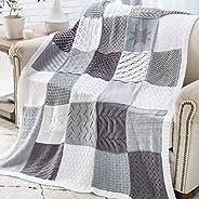 Knit Afghan Block Club - 30-Block Stitch Sampler Afghan Subscription Club: Coastal Gray Colorway