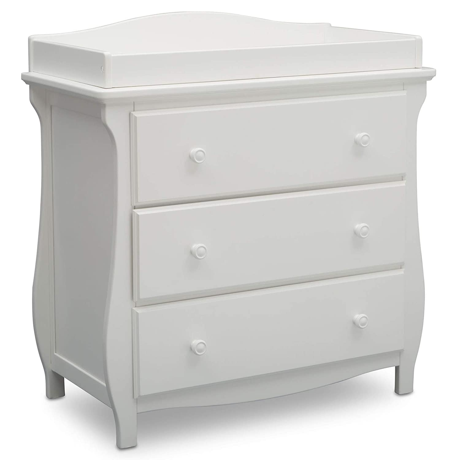 Delta Children Lancaster 3 Drawer Dresser with Changing Top, Bianca White Delta Enterprise Corp - PLA 552030-130