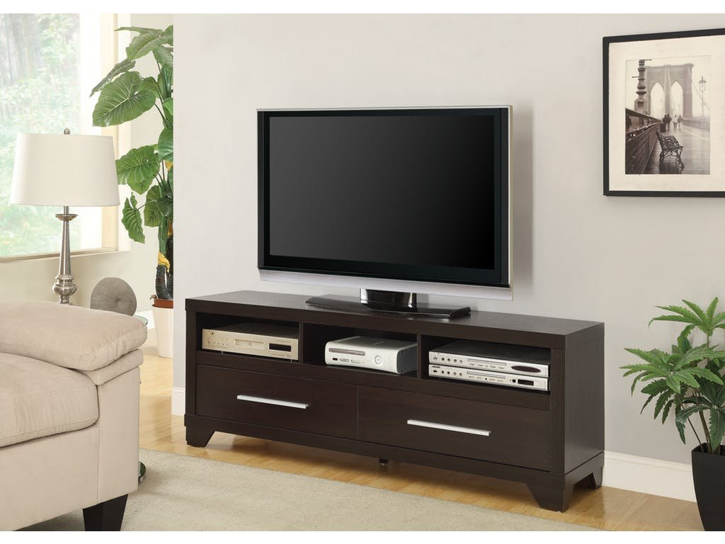 Coaster Home Furnishings 2-Drawer TV Console with 3 Storage Compartments Cappuccino