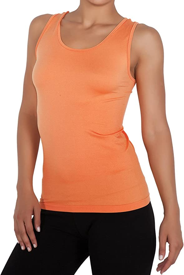 miorre Camiseta sin Mangas para Mujer Sin Costuras Camiseta Tirantes Mujer