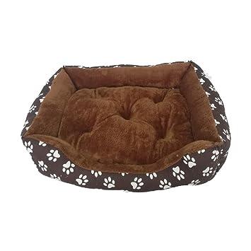 Cisne 2013, S.L. Oferta LIQUIDACION Camas para Perro y Gato Estampado Marron Huellas V 55 * 40: Amazon.es: Hogar